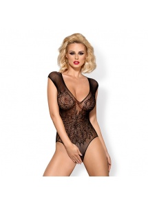 Drapieżne body - Obsessive B112 Teddy Black XL/XXL